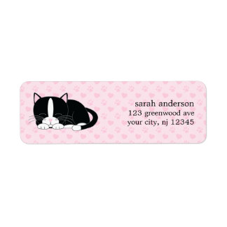 Sleepy Kitty {Tuxedo} Label