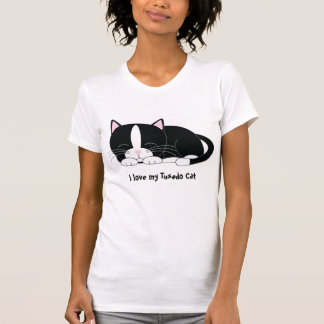 Sleepy Kitty {Tuxedo} T Shirt