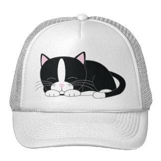 Sleepy Kitty {Tuxedo} Trucker Hat