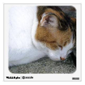 Sleepy Kitty Wall Decal