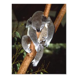 Sleepy Koala 4.25x5.5 Paper Invitation Card