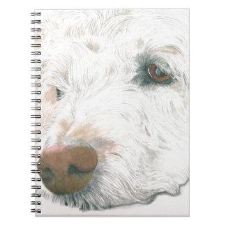 Sleepy Labradoodle Notebook