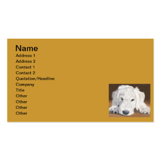 Sleepy Labradoodle Pup Double-Sided Standard Business Cards (Pack Of 100)