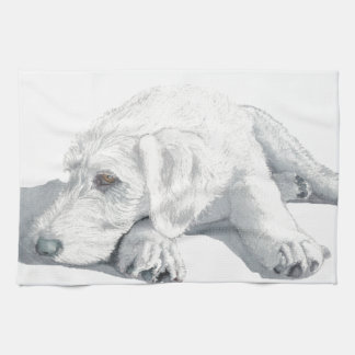 Sleepy Labradoodle Pup Hand Towels