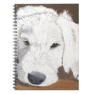 Sleepy Labradoodle Pup Notebook