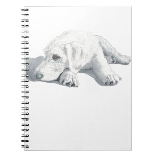 Sleepy Labradoodle Pup Spiral Notebook