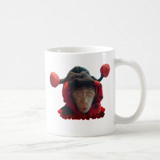 Sleepy Ladybug Monkey Coffee Mug