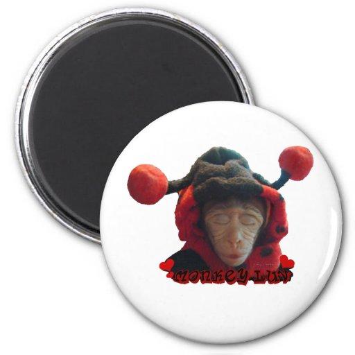 Sleepy Ladybug Monkey Magnet