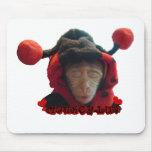 Sleepy Ladybug Monkey Mouse Pads