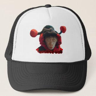 Sleepy Ladybug Monkey Trucker Hat