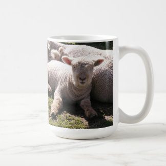 Sleepy Lambs Classic White Coffee Mug