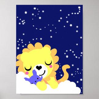 Sleepy Lion Bedroom Poster [ VERY CUTE ]