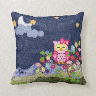 Sleepy Little Owl Throw Pillow