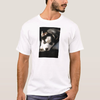Sleepy Lop Eared Siberian Husky Puppy T-Shirt
