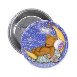 Sleepy Moon Bear Buttons