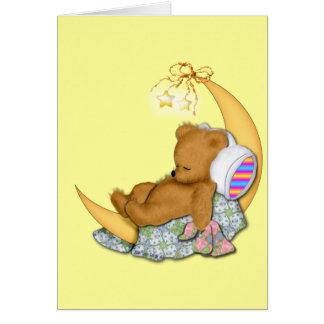 Sleepy Moon Bear Card