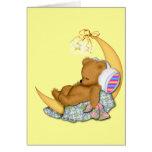 Sleepy Moon Bear Greeting Card