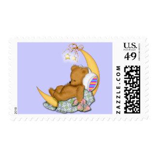 Sleepy Moon Bear Postage Stamps