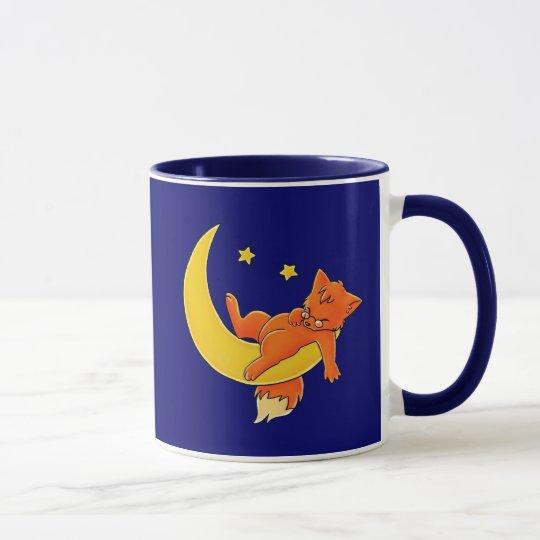 Sleepy Moon Fox Mug