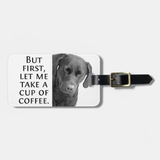 Sleepy morning labrador bag tag