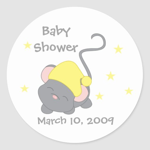 Sleepy Mouse Classic Round Sticker