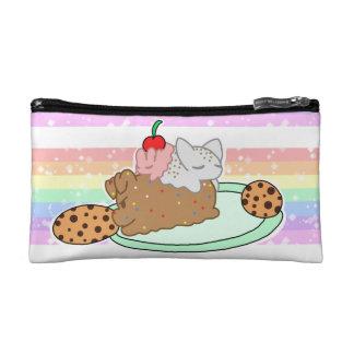Sleepy Neapolitan Pets on a plate Cosmetic Bag