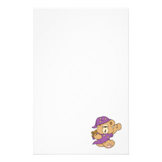 sleepy night night cute teddy bear design stationery paper