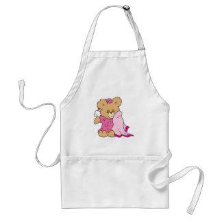 sleepy night night girl teddy bear design adult apron
