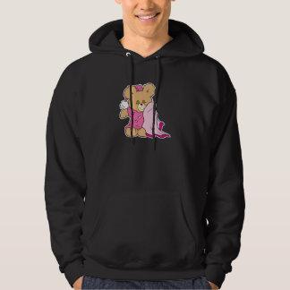 sleepy night night girl teddy bear design hoodie