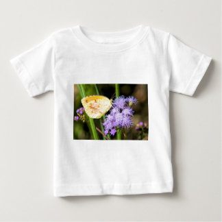 Sleepy Orange Butterfly on Ageratum Wildflowers Baby T-Shirt