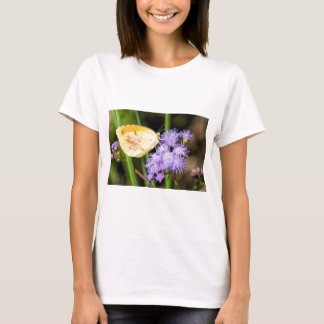 Sleepy Orange Butterfly on Ageratum Wildflowers T-Shirt