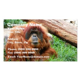 Sleepy Orangutan Double-Sided Standard Business Cards (Pack Of 100)