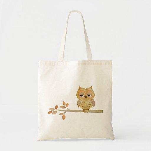 Sleepy Owl in Tree Bag
