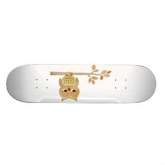 Sleepy Owl in Tree Skateboard