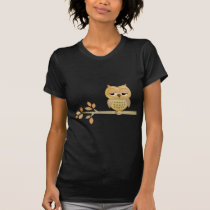Sleepy Owl in Tree T-Shirt