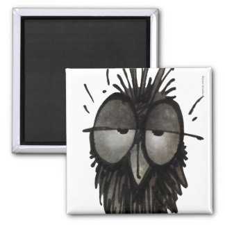 Sleepy Owl Refrigerator Magnets