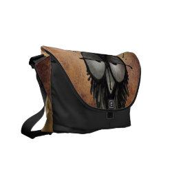 Sleepy Owl Messenger Bags