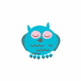Sleepy Owl Photo Statuette