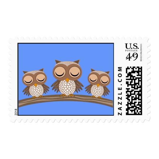 sleepy owls postage