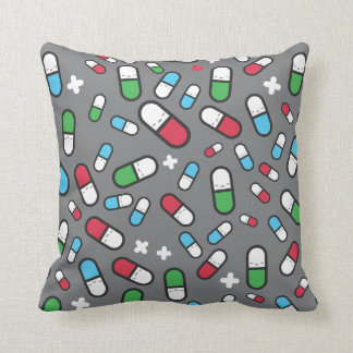 sleepy pills throw pillow