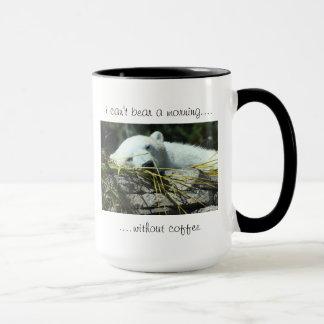 "sleepy polar bear ""must have coffee"" mug"