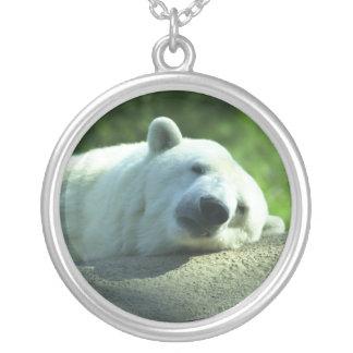 Sleepy Polar Bear Necklace