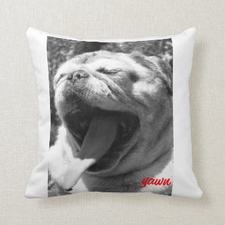 Sleepy Pug Throw Pillow