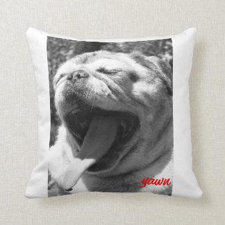 Sleepy Pug Throw Pillow