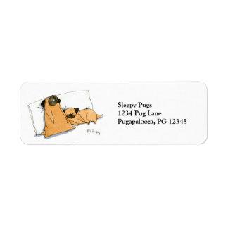Sleepy Pugs Custom Return Address Labels