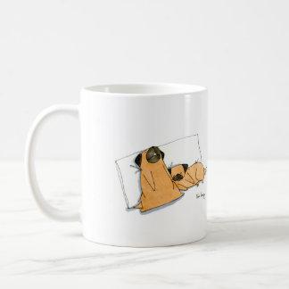 Sleepy Pugs Basic White Mug