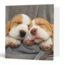 Sleepy Puppies 3 Ring Binder