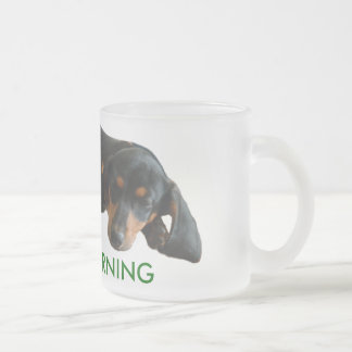 Sleepy Puppy Frosted Mug