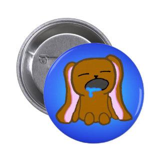 Sleepy Rabbit Badge Pinback Buttons
