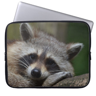 Sleepy Raccoon Laptop Sleeve